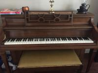 Fischer upright piano   bench