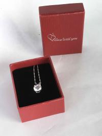 """Diamond""/Cubic Zirconia necklace - perfect for a wed"