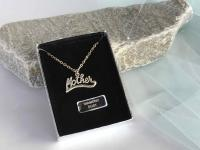 """Diamond Dust"" necklace with ""Mother"" penda"