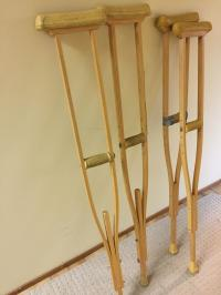 2 sets of crutches for sale