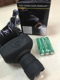 Wearable LED Zoom Headlamp - batteries included - Safety!