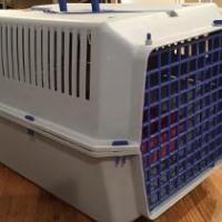 Pet Carrier on Wheels with littler box and scoop