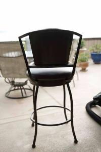 Wrought Iron Bar Stool - Perfect Condition