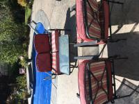 4 piece outdoor set , Love seat 2 chairs , table