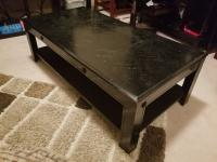 Black wooden coffee table