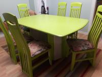 6 chairs dining tabl