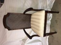 Arm Chair, solid wood with upholstered seat