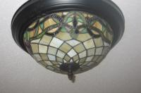 Leaded Glass Ceiling Light Fixture