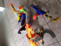 nerf dart gun collection