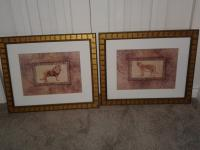 Framed Prints of African Lion and Tiger
