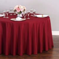 Tablecloth - large, round, burgundy