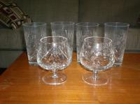 Pinwheel Crystal Glasses and Brandy Snifters