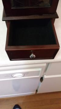 JEWELLERY BOX WITH CHERRY WOOD FINISH