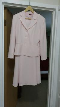 Mr Jax 2 Piece Pink Peacock Dress and Blazer_New_Size 10