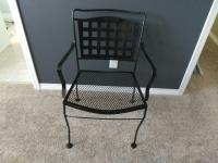 Wrought Iron Chair (Black)
