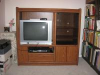 Entertainment Center complete with television set.