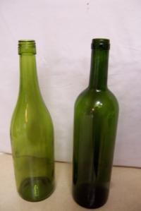 Cases of Green and Clear Wine Bottles