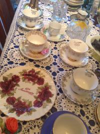 Plates and cups and saucers