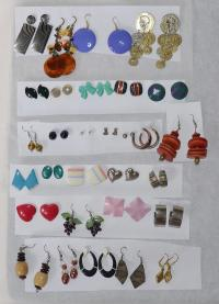 30 pairs of pierced earrings, all for $20