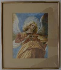 Two Framed Angel Pictures