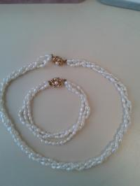 Two piece freshwater pearl set