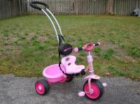 Pink Tricycle with Handle